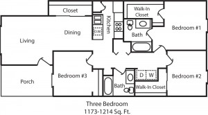 Patriot Point Floor Plan 3 Bed
